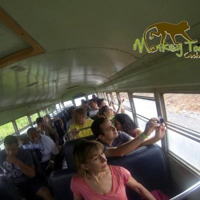 School Bus travel for tubing