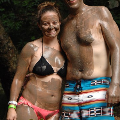 couple mud bath