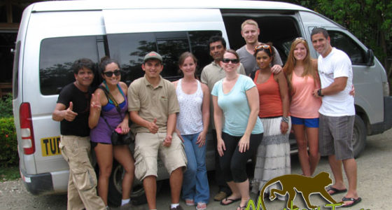 Monkey Tours van for 15 people