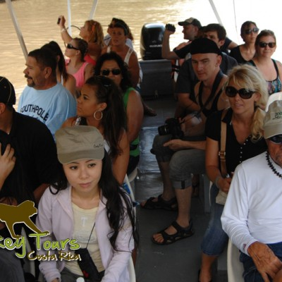 Having fun in the safari boat tour