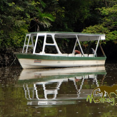 The official boat in the boat safari
