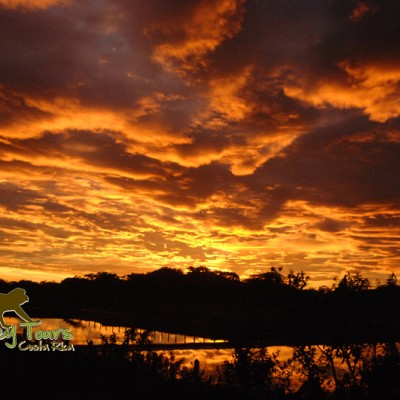Costa Rica beautiful sunrise with Monkey Tours