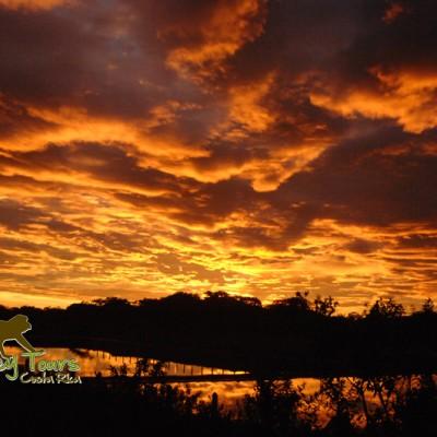 Costa Rica beautiful sunrise with Monkey Tours