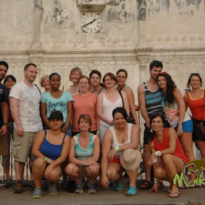 Posing infront of the history in Nicoya