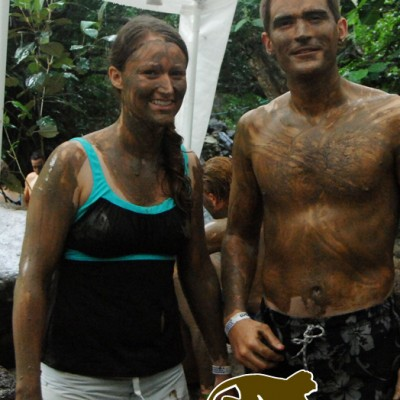 Mud bath good for skin, all types of skin! Enjoy with Costa Rica Monkey Tours.