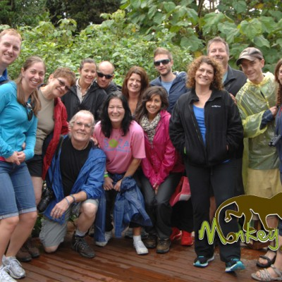 Happy tour groups in Costa Rica with Monkey Tours
