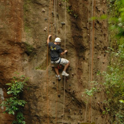 Climbing the mountain in Costa Rica