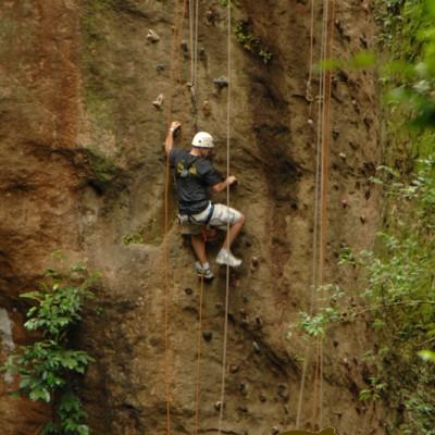Climbing the mountain in Costa Rica