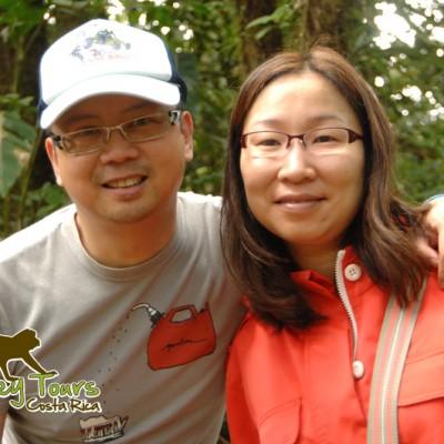 Ayako in Monteverde loving Monteverde