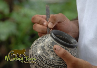 Learn about the pottery creations with Costa Rica Monkey Tours