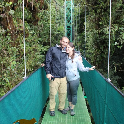 Hanging bridges in Monteverde, explore the nature it contains