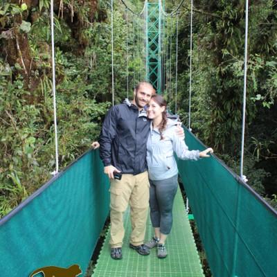 Hanging bridges in Monteverde, explore the nature it contains
