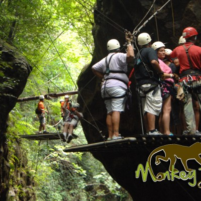 Great zipline activity with Monkey Tours