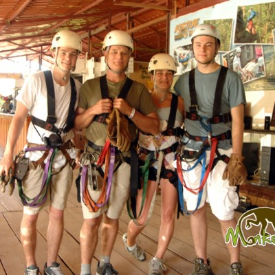 Zipline group Costa Rica
