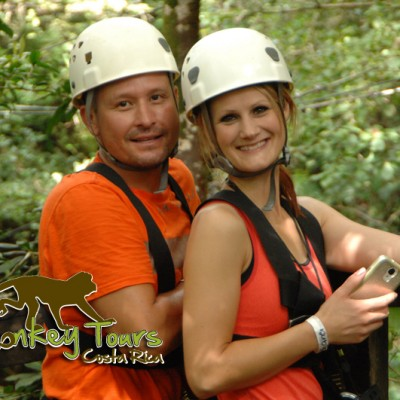 Ready for the canopy tours with Costa Rica Monkey Tours