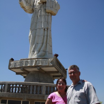 Nicaragua statue with an amazing view
