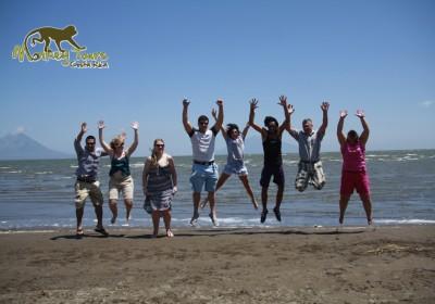 San Juan Del Sur jumping picture