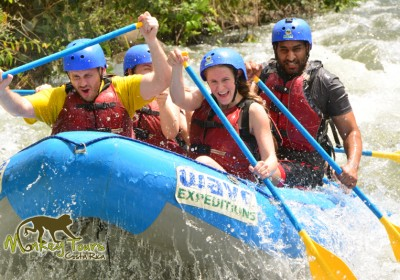 Adrenaline tour of river rafting