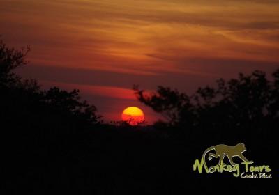 amazing sunset landscape