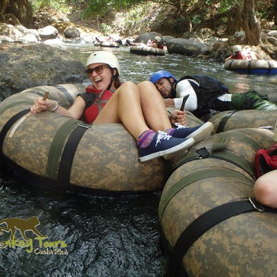Jungle tubing. Fun and exilarating adventure.