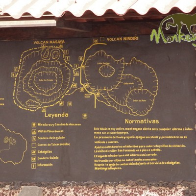 Masaya volcano map