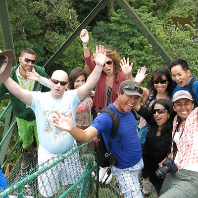 Amazing tour group in the hanging bridges