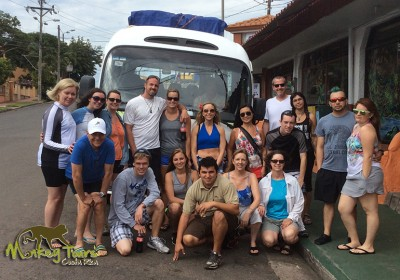 Group picture of the Costa Rica Nicaragua Adventure Tour on their way to an amazing trip and lifetime adventure