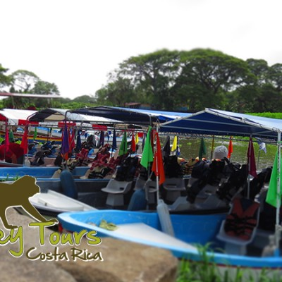 Lake tour coloful boats in the shores of Lake Nicaragua