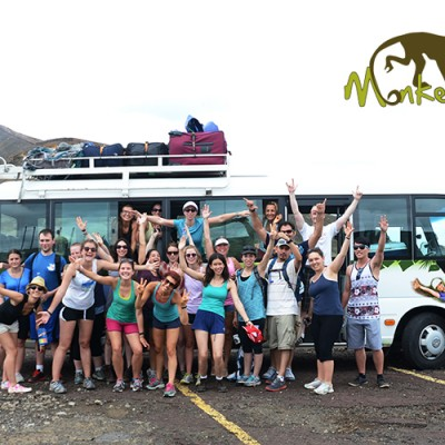 Fun group picture in Nicaragua at The Masaya Volcano National Park