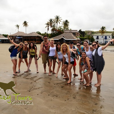 Happy Costa Rica Nicaragua tour group in San Juan del Sur