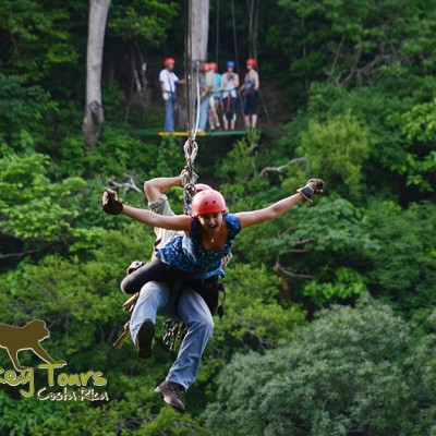 Amazing time ziplining in the jungle of Costa Rica