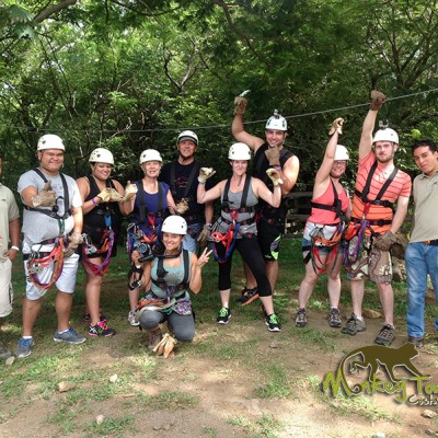 preparing for Zipline tour Costa Rica