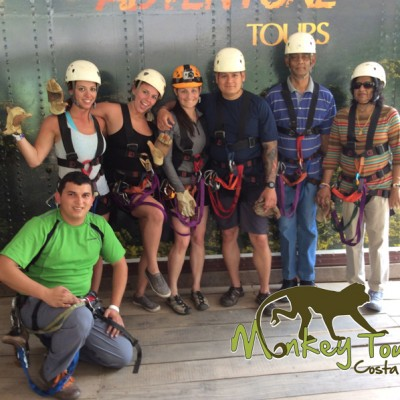 group zipline adventure tour Hacienda Guachipelin