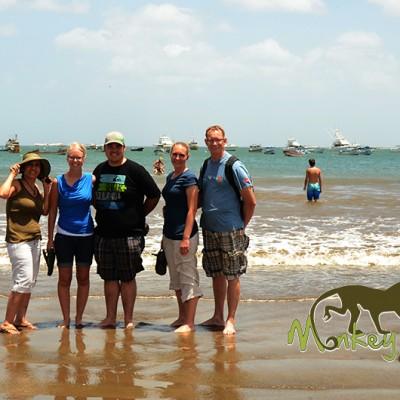 tour group in San Juan del Sur beach