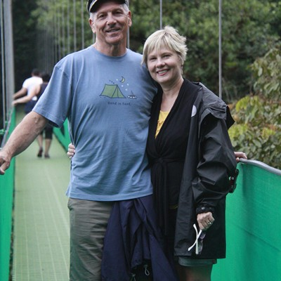 couple Monteverde hanging bridges