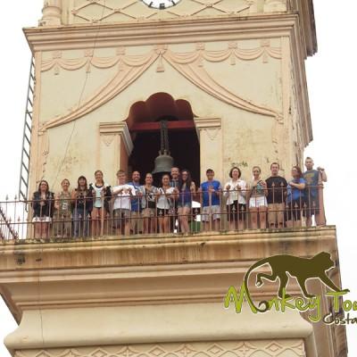 Guided tour group visit in Granada Nicaragua church