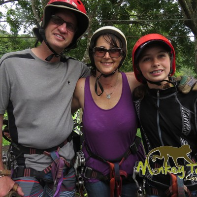 Family ziplining canopy in Costa Rica adventure tour