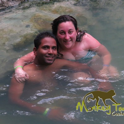 Guided tour swimming natural jungle hot springs