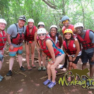 tubing adventure jungle river Costa Rica
