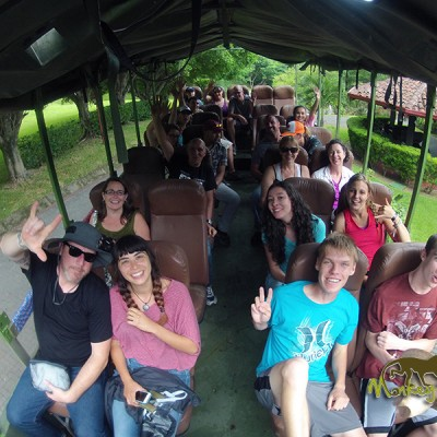 Guided group bus adventure in Costa Rica