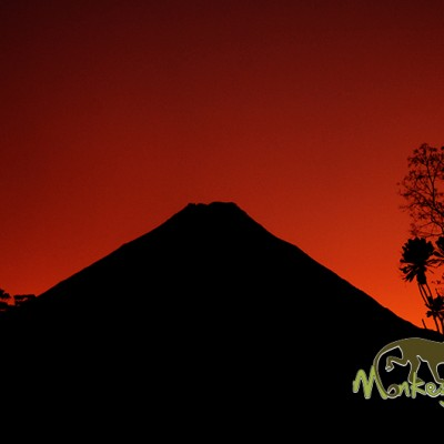 Arenal volcano sunset Costa Rica
