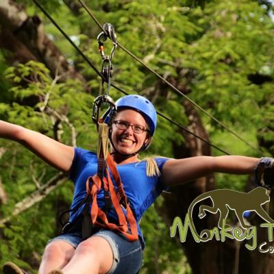 girl Zipline nature Costa Rica