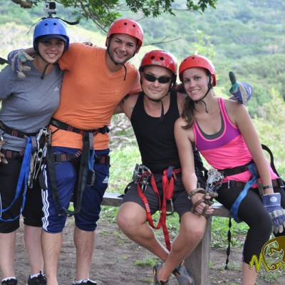 ready for zipline guided tour Costa Rica & Nicaragua Tour 60