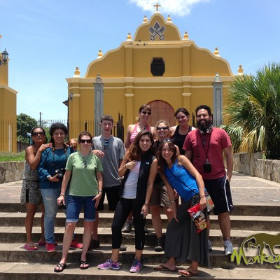 Costa Rica & Nicaragua guided tour group at Nicaragua Church