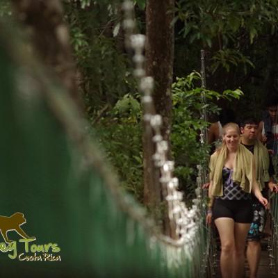 Mud bath bridge Hacienda Guachipelin Costa Rica Tour 119