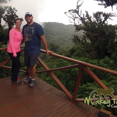 Couple at the Monteverde Cloud Forest guided adventure tour Guanacaste Costa Rica Tour 124