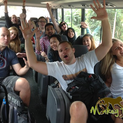 Fun in guided tour bus Costa Rica Tour 121