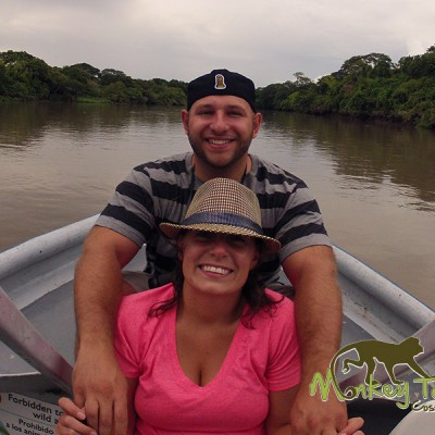 Couple on the Palo Verde Boat Adventure Guanacaste Costa Rica Guided Tour 124