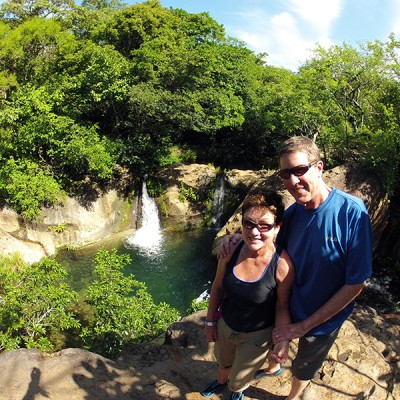Waterfall Rincon de la Vieja Hacienda Guachipelin Costa Rica Adventure Trip 126
