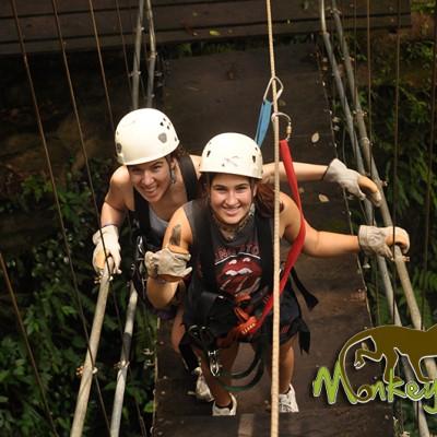 Canopy Zipline Bridge Hacienda Guachiplein Costa Rica Guided Getaway 128